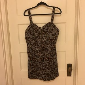 Target Wild Fable zip up leopard dress